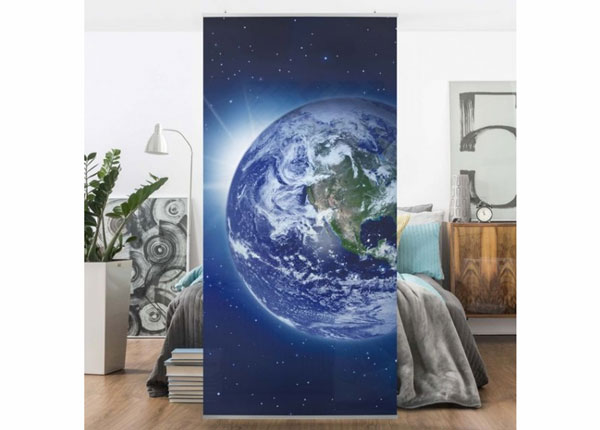 Paneelkardin Earth in Space 250x120 cm