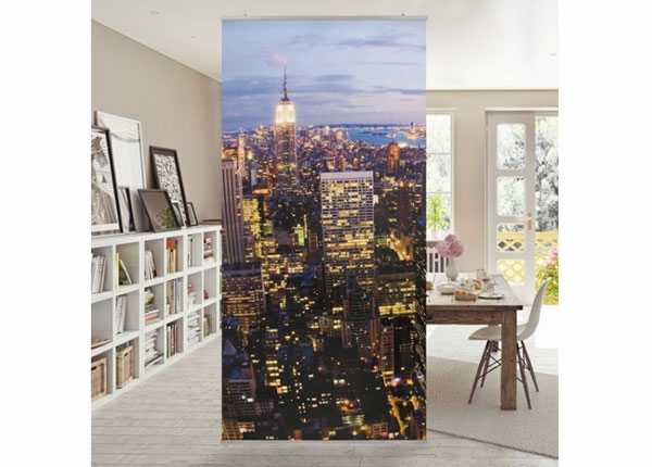 Paneelkardin New York skyline at night ED-141403