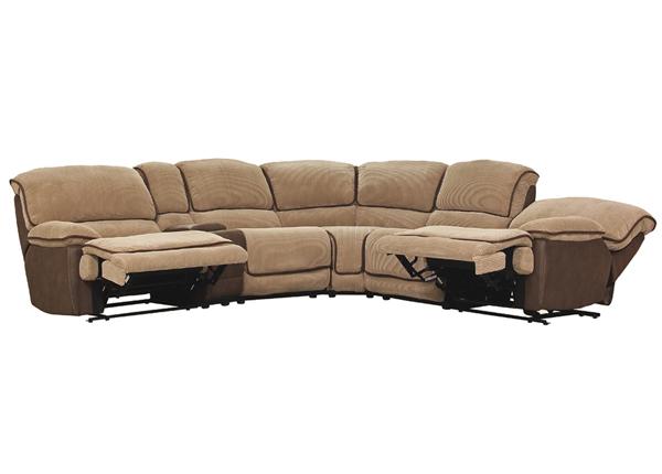 Угловой диван Relax5, золотисто-коричневый/бежевый BM-141731
