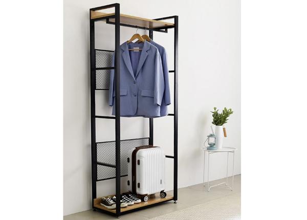 Garderoobisüsteem 80x200 cm (2 riiulit+2 toru)
