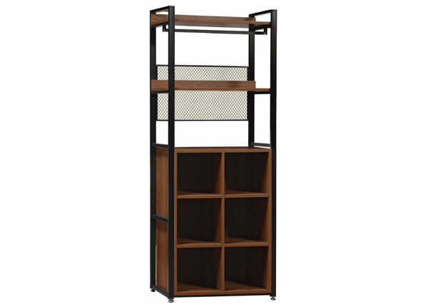 Garderoobisüsteem 80x200 cm (2 riiulit+ 2 toru +jalatsiriiul)