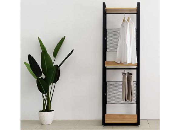 Garderoobisüsteem 60x200 cm (4 riiulit+2 toru)