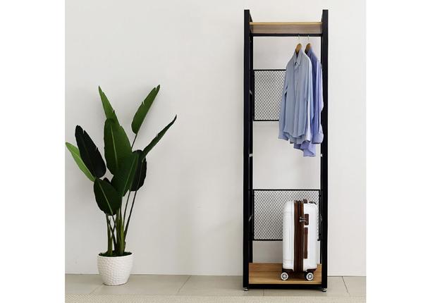 Garderoobisüsteem 60x200 cm (2 riiulit+2 toru)