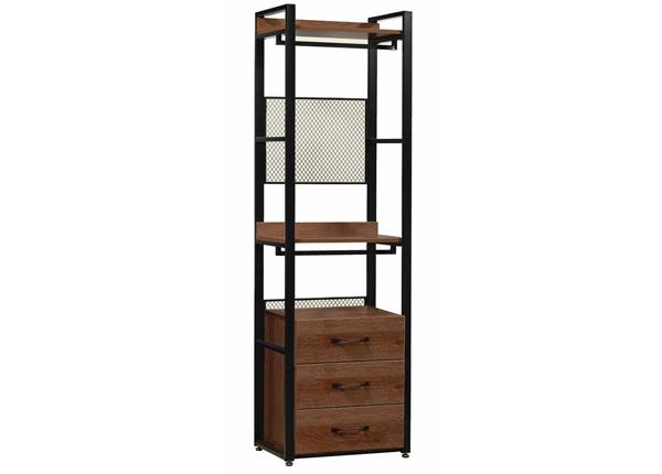 Garderoobisüsteem 60x200 cm (2 riiulit+ 2 toru +sahtliboks)