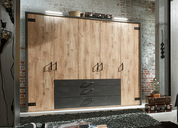 Шкаф платяной Detroit + рама SM-142625