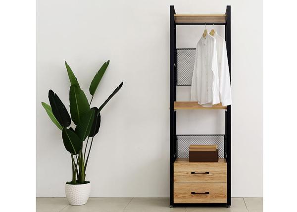 Garderoobisüsteem 60x200 cm (2 riiulit+ 2 toru+ sahtliboks)