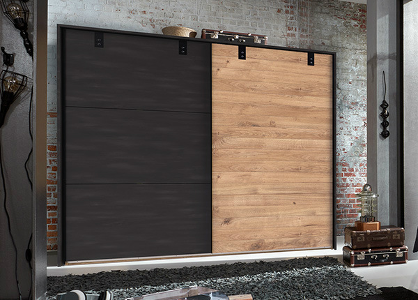 Lükandustega riidekapp Detroit 310 cm + raam