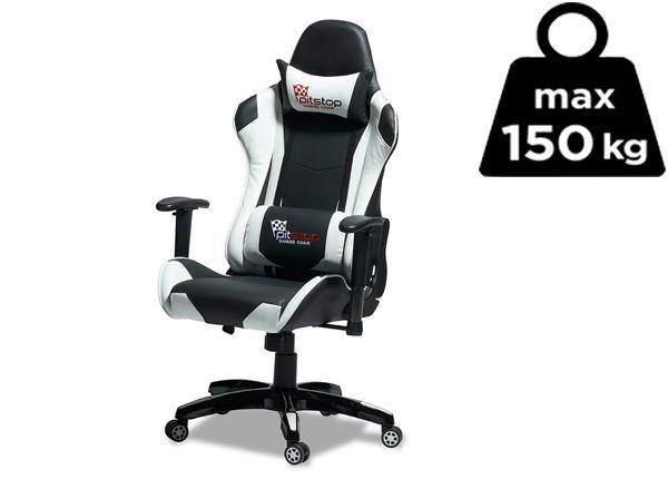 Рабочий стул Gaming, чёрный/белый AY-142715