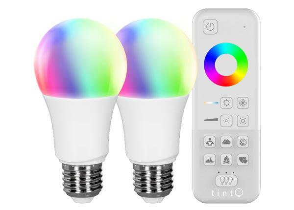 "LED elektripirn ""valge+värviline"" + pult"