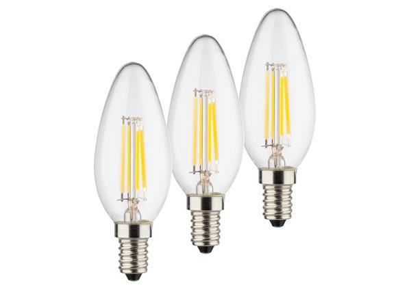 LED elektripirn Retro E14 4 W 3 tk RT-142854