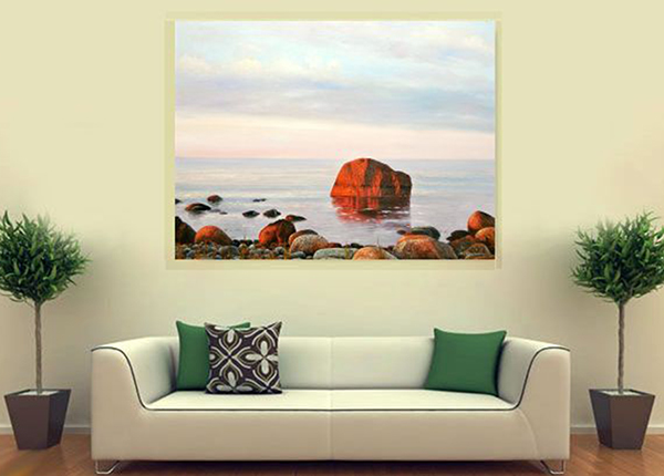 Масляная картина Вечернее море 90x120 см