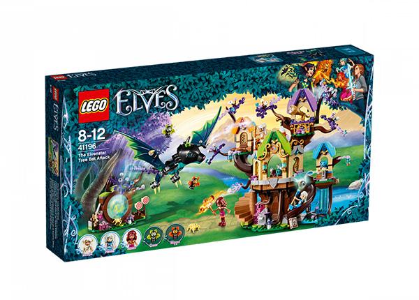 Haltioiden tähtipuu ja lepakköhyökkäys LEGO Elves