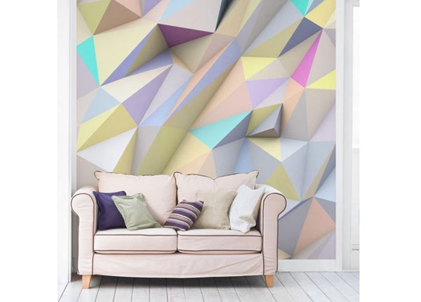 Флизелиновые фотообои Geometric Pastel Triangles In 3D ED-143485