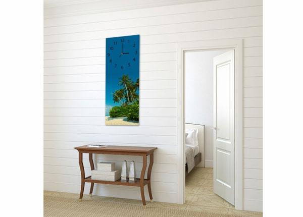 Kuvallinen seinäkello TROPICAL BEACH
