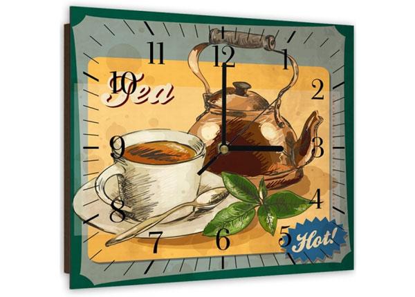 Pildiga seinakell Hot tea