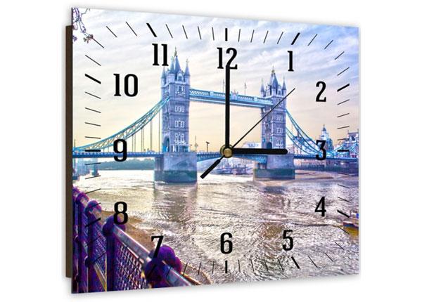 Kuvallinen seinäkello LONDON BRIDGE