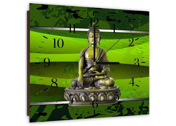 Kuvallinen seinäkello GREEN BUDDHA