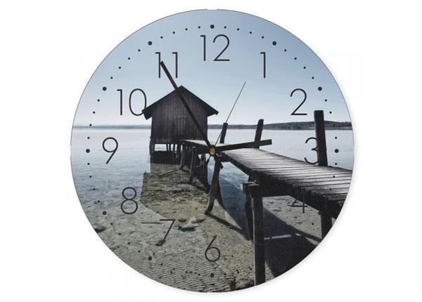 Настенные часы с изображением Boat house ED-144324