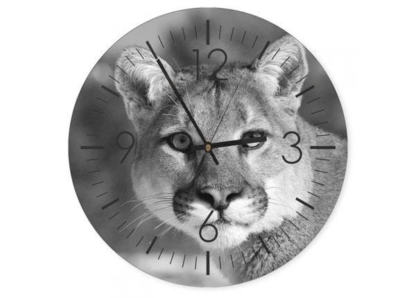 Настенные часы с изображением Wild cat ED-144341