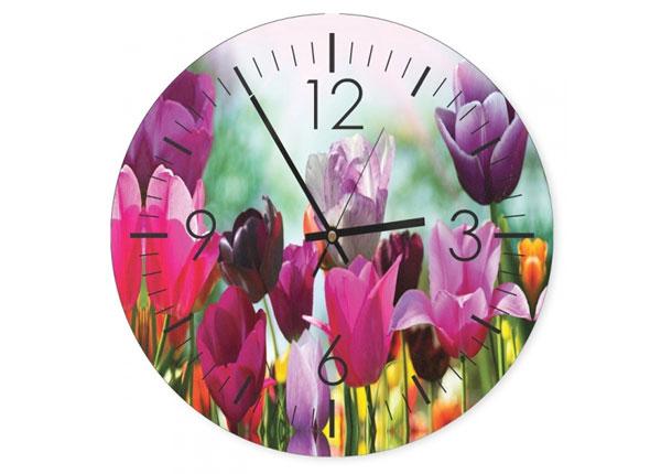 Pildiga seinakell Colorful tulips