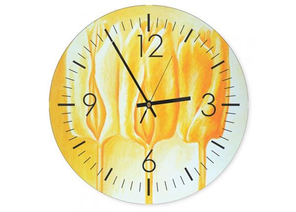 Настенные часы с картиной Yellow tulips ED-144350