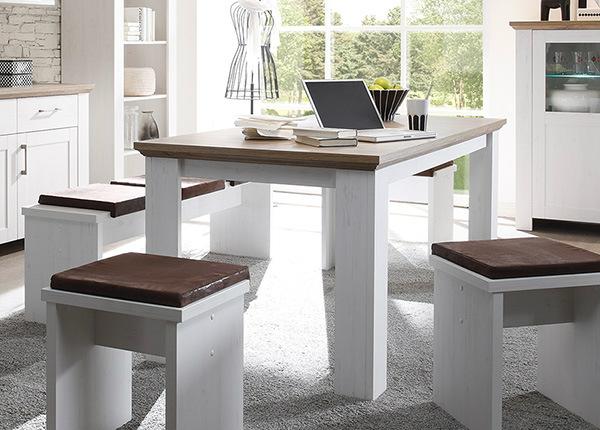 Jatkettava ruokapöytä Country 90x180-260 cm