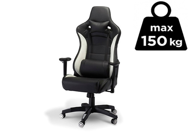 Рабочий стул Gaming de Luxe, чёрный/белый AY-144506