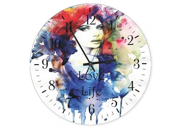 Настенные часы с картиной Love life ED-144550