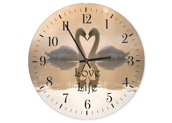 Seinäkello Love life kuvalla ED-144556
