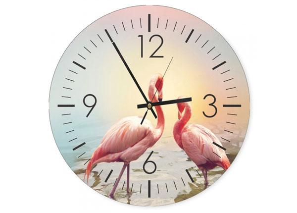 Настенные часы с картиной Flamingos 1 ED-144583