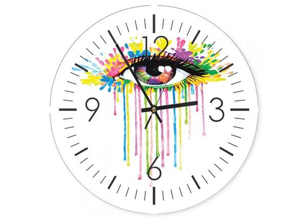 Seinäkello Colorful eye kuvalla ED-144586