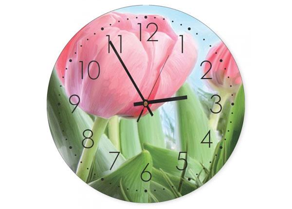 Pildiga seinakell Pink tulips