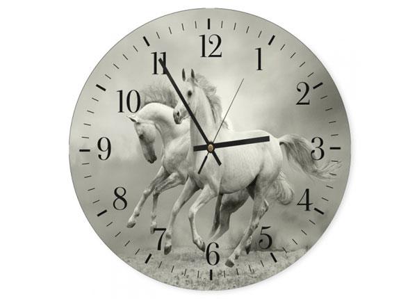 Pildiga seinakell White horses