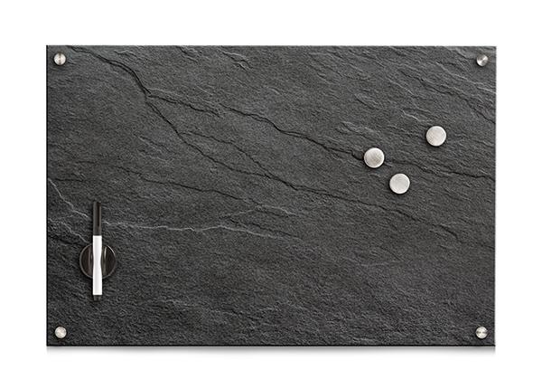 Lasinen muistitaulu 60x40 cm