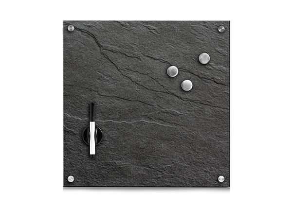 Lasinen muistitaulu 40x40 cm