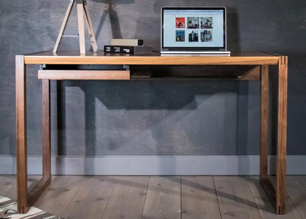 Tietokonepöytä RENFREW, pähkinä/pähkinä