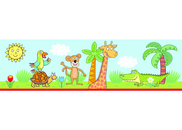 Seinakleebis Giraf 14x500 cm