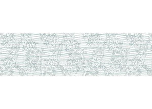 Seinätarra Grey flowers 14x500 cm ED-145874