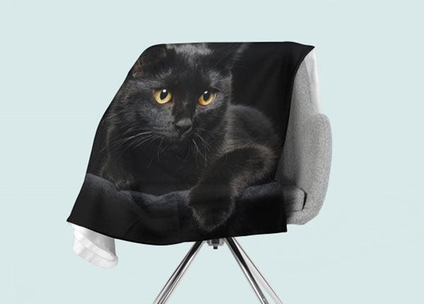 Fleecepeitto Black Cat 130x150 cm ED-146520