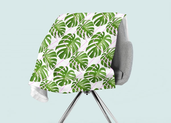 Fleecepeitto Tropical Palm Leaves 130x150 cm ED-146609