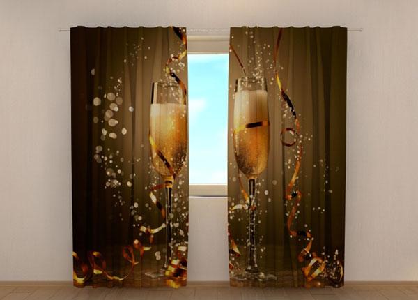 Полузатемняющая штора Christmas champagne 240x220 см ED-146933