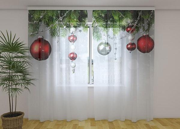 Läpinäkyvä verho Christmas Decorations 240x220 cm ED-146935