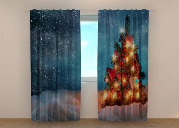 Poolpimendav kardin Christmas tree in snow 240x220 cm ED-146953