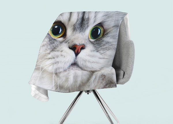Fleecepeitto Gray Cat 130x150 cm ED-147061