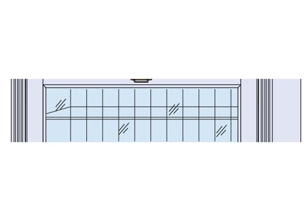 Klaasriiul Scandic Home vitriinkapile