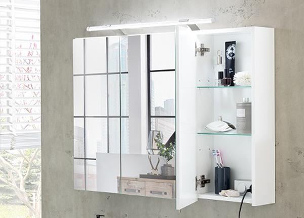 LED-valgustusega peegelkapp Dorina 100 cm