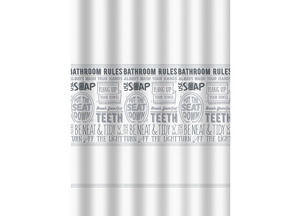 Dušikardin Bathroom Rules 180x200 cm DY-149630
