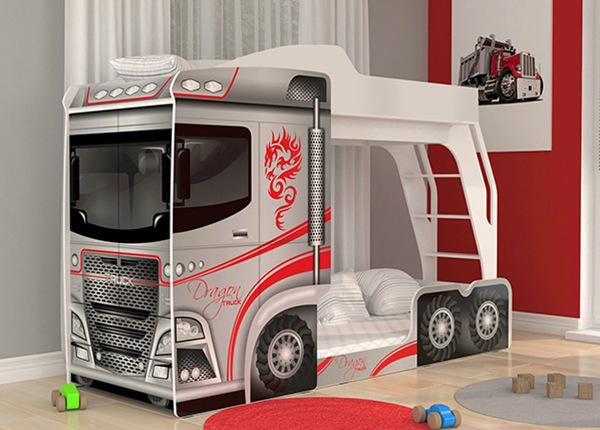 Двухъярусная кровать Mega Truck 80x190 cm