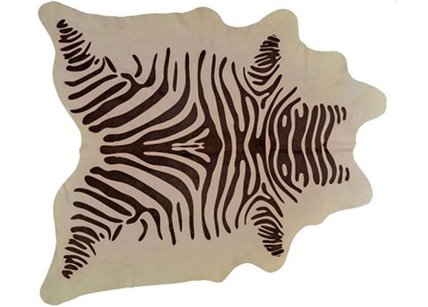 Натуральная шкура с узором зебры 210x220 см