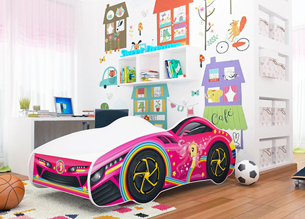 Lastevoodi Girl Car 70x140 cm